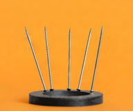 Magnetized pins Stock Photos