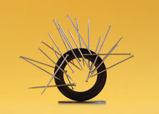 Magnetized pins Royalty Free Stock Image