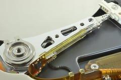 Magnetkopf des Festplattenlaufwerks Stockfotografie