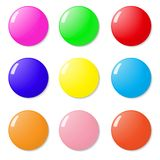 Magnets, buttons color on a white background. Stock Photo