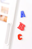 Magnets on Fridge Royalty Free Stock Images