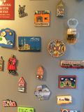 Magnets on fridge Royalty Free Stock Photos
