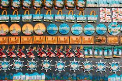 Magnets Souvenirs At Street Market. Funny Souvenir From Batumi, Royalty Free Stock Photos