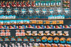 Magnets Souvenirs At Street Market. Funny Souvenir From Batumi, Royalty Free Stock Photography