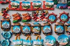Magnets Souvenirs At Street Market. Funny Souvenir From Batumi, Stock Image