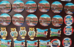 Magnets souvenirs Royalty Free Stock Images