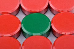 Magnets writing. Writing round colour magnets-close ups Stock Image