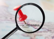 Istanbul Turkey magnified Royalty Free Stock Photos