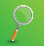 Magnifer vectorillustratie stock illustratie
