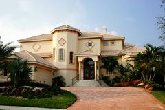 Magnificant Estate Home. Magnificant cream-colored home with Royalty Free Stock Images