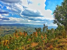 Magnificant mountain and view. Taken in one of the most rural places in Shan State, Myanmar Royalty Free Stock Image