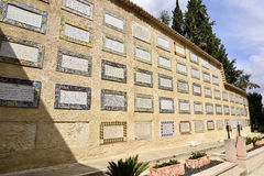 Magnificat Wall in Church of the Visitation, Jerusalem Stock Images