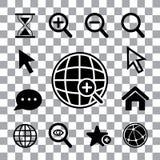 Magnification icon set Stock Image