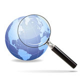 Magnification Planet Stock Photography
