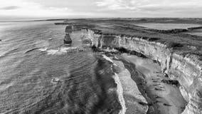 Magnificence 12 апостолов, Австралия Вид с воздуха на сумраке Стоковые Фото