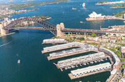 Magnificence горизонта Сиднея, вида с воздуха Стоковая Фотография RF
