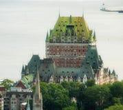 Magnificence Гостиницы Замка de Frontenac, замка Квебека Стоковые Изображения RF