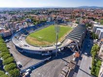 Magnificence of Arena Garibaldi stadium in Pisa, aerial view Stock Photography
