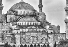 Magnificence of Blue Mosque, Istanbul Royalty Free Stock Photo