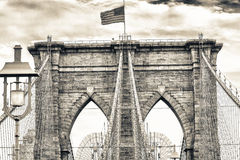 Magnificence of Brooklyn Bridge, New York City Stock Image