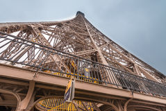 Magnificence of Eiffel Tower, view of powerful landmark structur Stock Photo