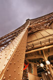 Magnificence of Eiffel Tower, view of powerful landmark structur Stock Photography