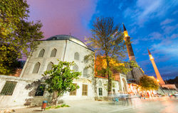 Magnificence of Hagia Sophia Museum at night, Istanbul, Turkey royalty free stock photography