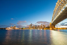 Magnificence of Harbour Bridge at dusk, Sydney Stock Photos