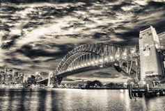 Magnificence of Harbour Bridge at dusk, Sydney Royalty Free Stock Photography