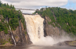 Magnificence of Montmorency Falls, Canada Stock Photo