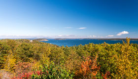 Magnificence of New England foliage scenario in autumn Royalty Free Stock Image
