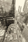 Magnificence of New York Buildings in black and white Stock Images