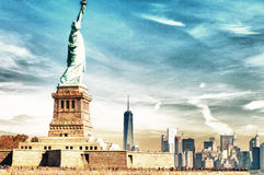 Magnificence of Statue of Liberty - New York City - USA Royalty Free Stock Photography