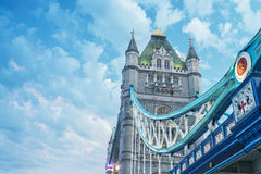 Magnificence of Tower Bridge, London - UK Royalty Free Stock Photography