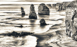 Magnificence of Twelve Apostles Rocks at sunrise - Great Ocrean Royalty Free Stock Photos
