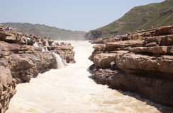 The magnificence waterfall. China's hukou waterfall the magnificence of the landscape Royalty Free Stock Photography