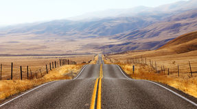 . Magnificent American road Royalty Free Stock Images
