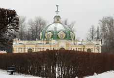 Magnificent ancient grotto building in Moscow park Stock Photo