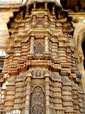 Magnificent Architecture. A huge tower with magnificent traditional carvings outside an Indian palace Royalty Free Stock Images