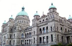 The Magnificent Architecture of Victoria's Parliament Buildings. The magnificent 19th century,  neo-baroque and romanesque revival style,  architectural beauty Royalty Free Stock Image