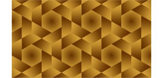 Background for half hexagonal,hexagonal and triangles are golden shaped group consisting of gold and brown, abstract geometric pat. A magnificent background for Royalty Free Stock Photography