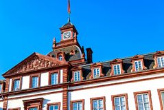 Phillipsruhe Baroque Castle in Hanau, Germany. Magnificent Baroque Phillipsruhe Castle on the banks of river Main in Hanau, Germany Royalty Free Stock Photo