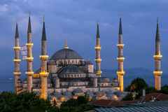 The magnificent Blue Mosque in the Sultanahmet district of Istanbul in Turkey. Royalty Free Stock Photos
