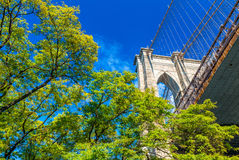 Magnificent Brooklyn Bridge, New York City Royalty Free Stock Images