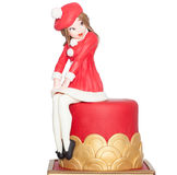 Magnificent cake the Frenchwoman in the red isolation. Anniversary arrangement  baked bakery Royalty Free Stock Images