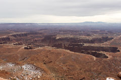 Magnificent Canyon in Utah. An incredible canyon viewed from a lookout in Canyonlands Royalty Free Stock Photography