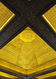 Magnificent carving interior ceiling. Of LeiFei Pagoda. HangZhou, China Stock Photos