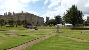 Magnificent castle Ashby in England Stock Images