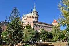 Magnificent castle Bojnice in Slovakia Stock Photography