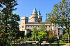 Magnificent castle Bojnice in Slovakia Stock Photos